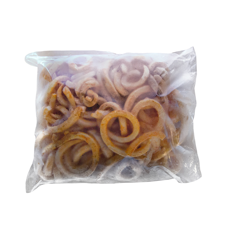 2 libras de Curly Fries