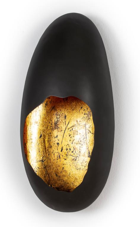 WALL LAMP / GOLD & BLACK 24x15x51