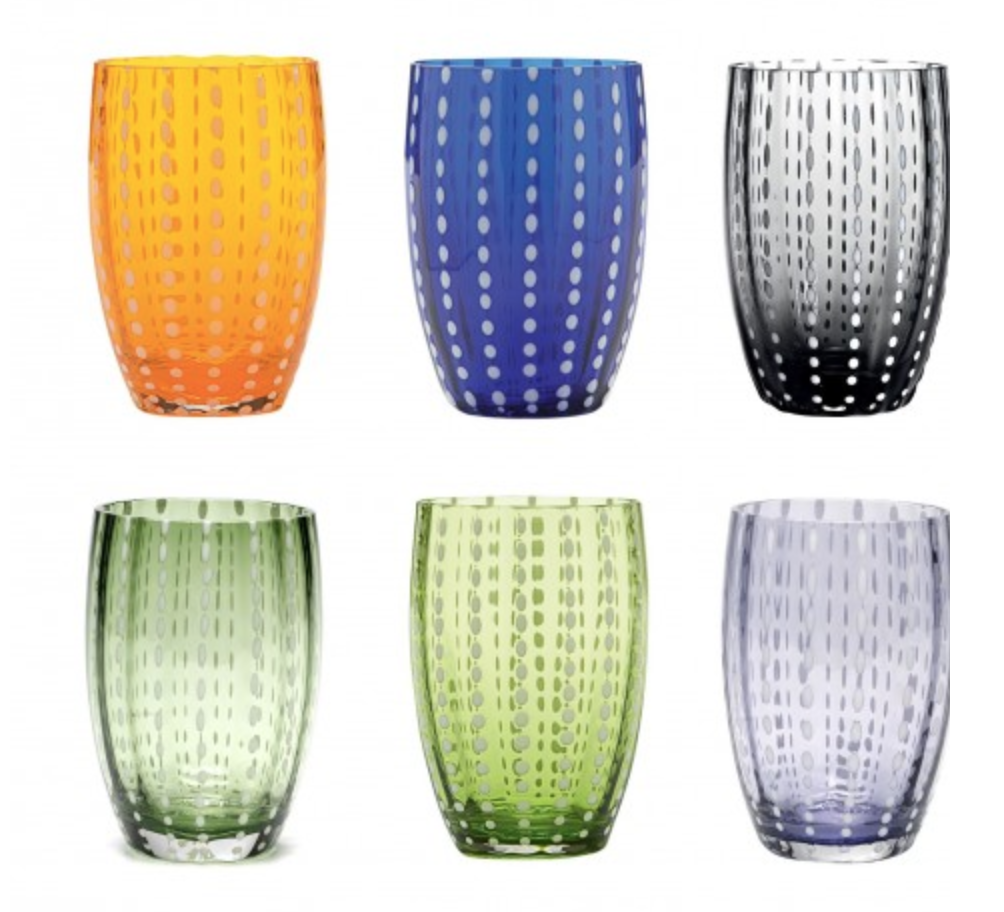 GLASS ASSORTED COLORS