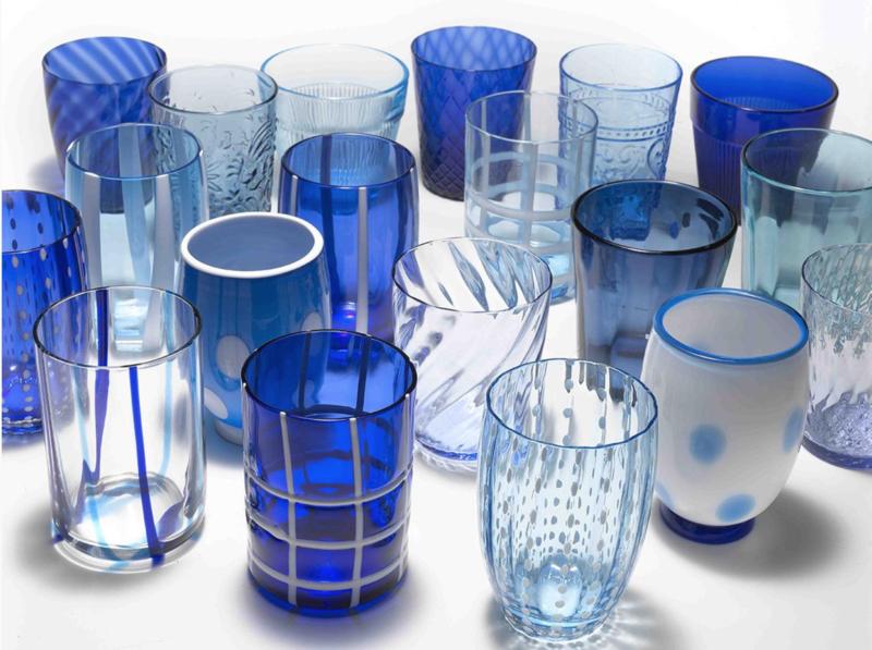 MELTING POT GLASS - BICOLOR BLUE