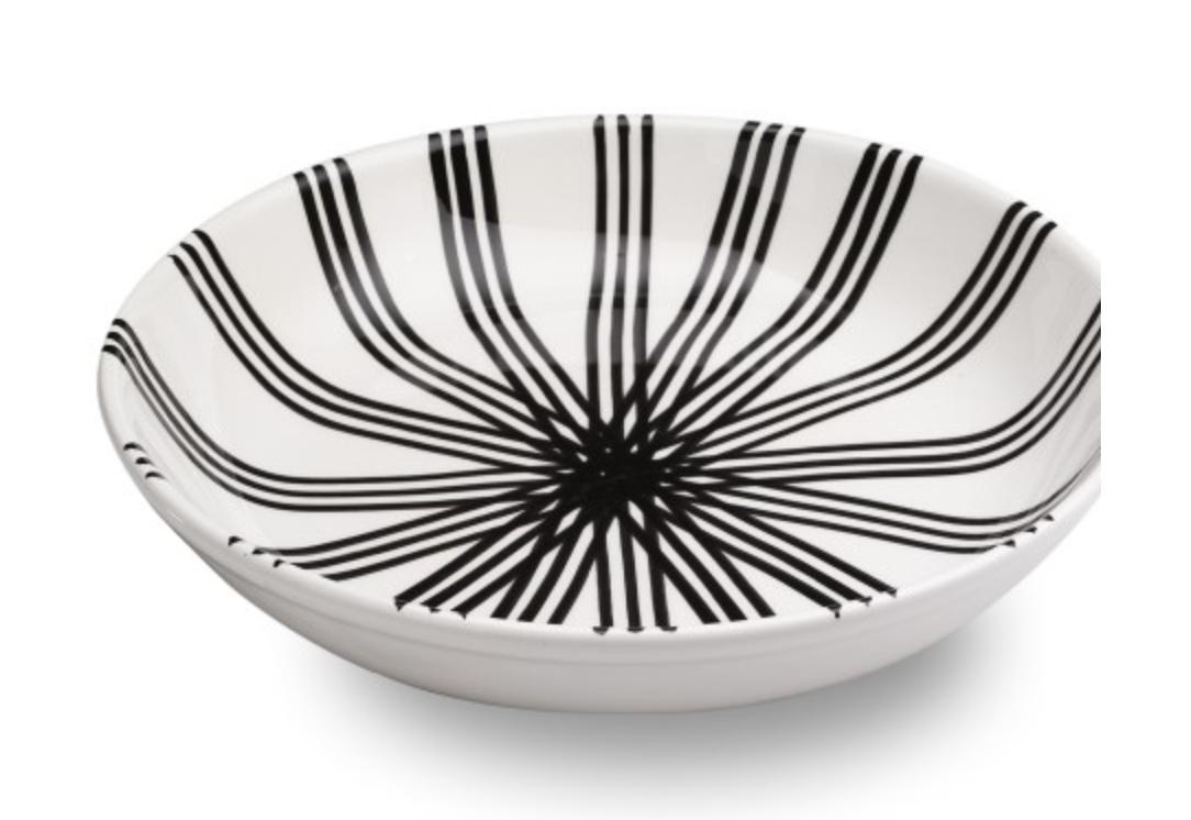 RICE SERVING PLATE - BLACK & WHITE