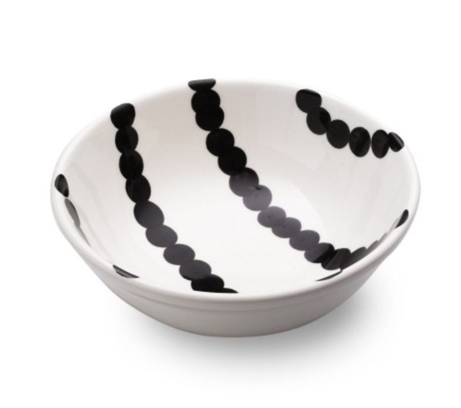 SALAD BOWL - BLACK & WHITE