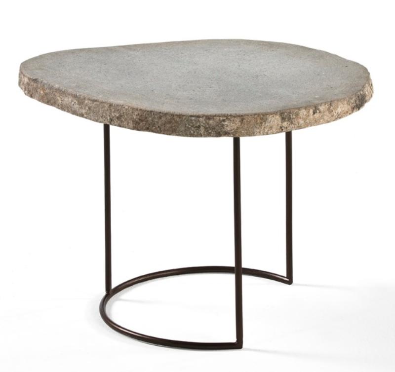 TABLE METAL & STONE