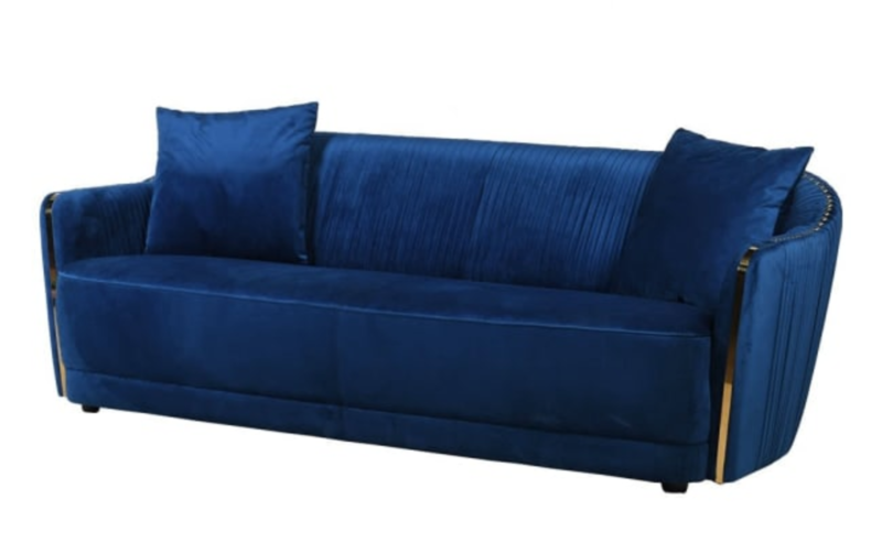 BLUE VELVET SOFA / 3 SEATER