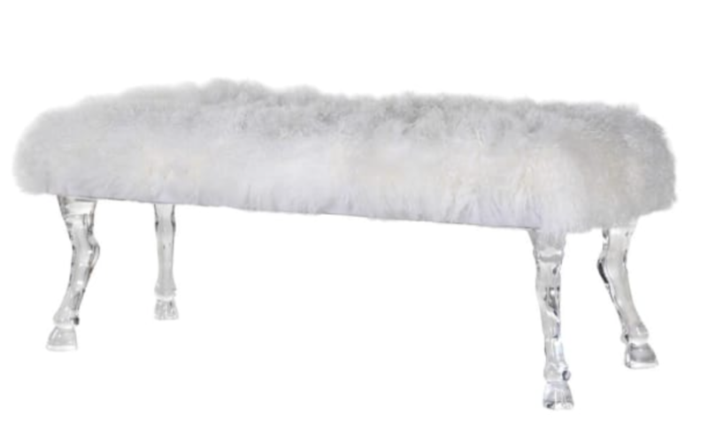 BENCH WITH MONGOLIAN FUR