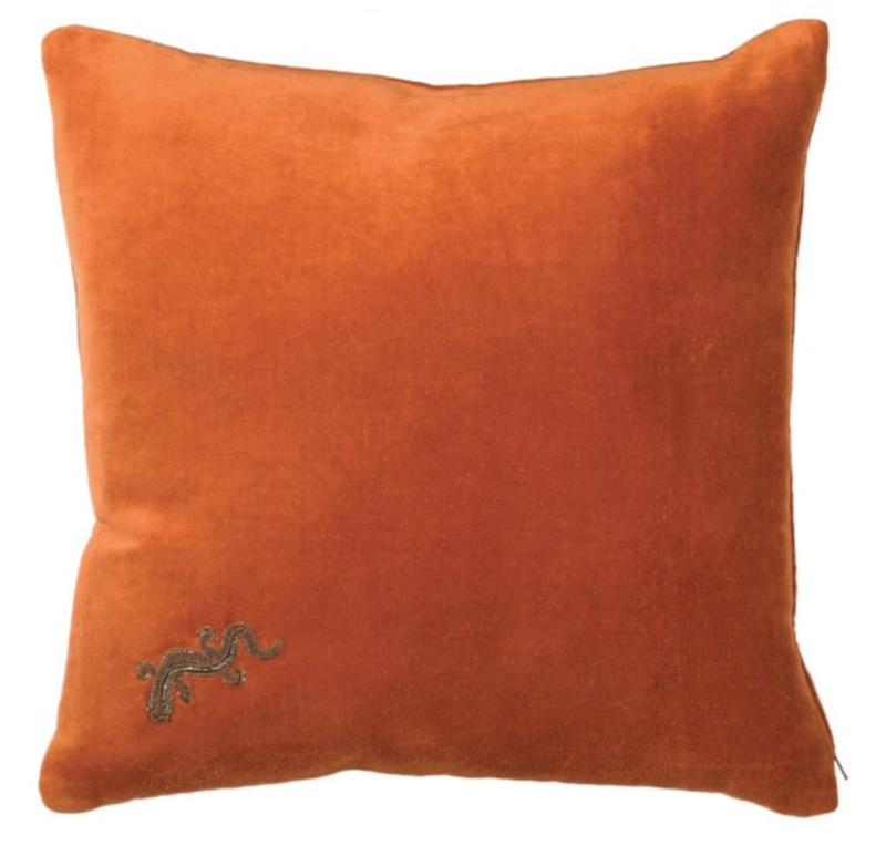 GECKO ORANGE CUSHION