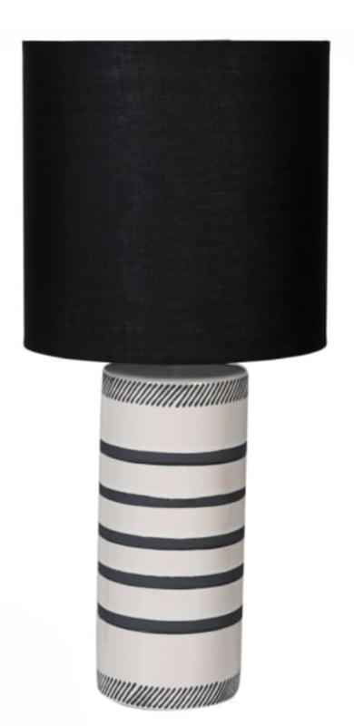 BLACK & WHITE CERAMIC LAMP