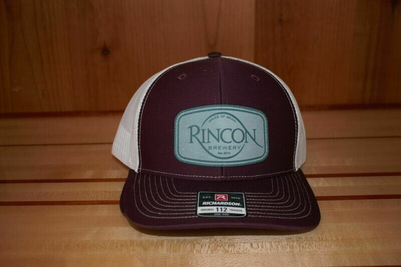 Maroon/White Bent Bill Snapback