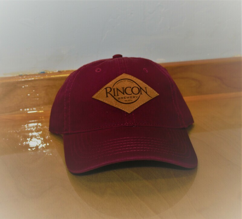 Maroon Retro Adjustable Cap - Leather Buckle