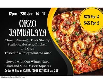 Jambalaya Dinner For 2 (SOLD OUT)