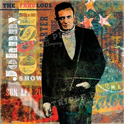 The Fabulous Johnny Cash Show — Illustrated Art Print