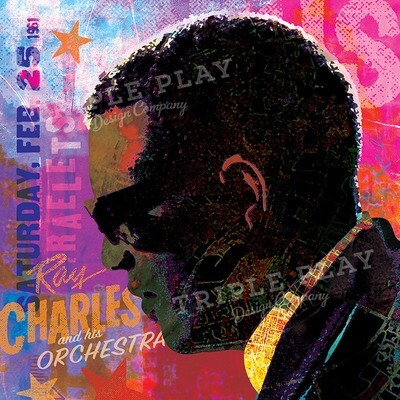 Ray Charles and His Orchestra — Illustrated Art Print