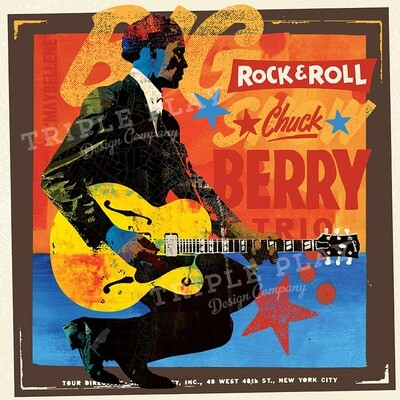 Rock 'n' Roll Chuck Berry Trio — Illustrated Art Print