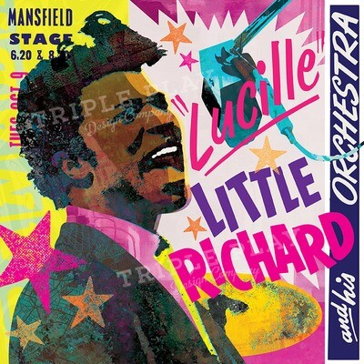 Little Richard and His Orchestra — Illustrated Art Print