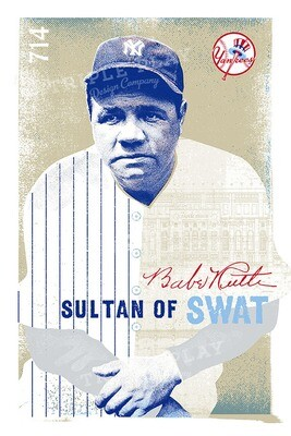 Babe Ruth: The Sultan of Swat — Illustrated Art Print