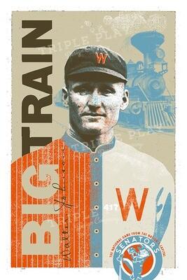 Walter Johnson: Big Train — Illustrated Art Print