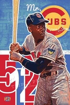 Ernie Banks: Mr. Cub — Illustrated Art Print