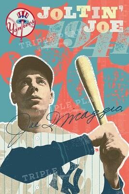 Joe DiMaggio: Joltin' Joe — Illustrated Art Print