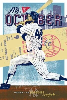 Reggie Jackson: Mr. October New York Yankees — Illustrated Art Print