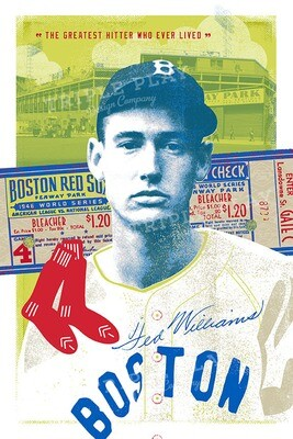 Ted Williams: The Greatest Hitter Who Ever Lived — Illustrated Art Print