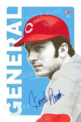 Johnny Bench: Little General — Illustrated Art Print