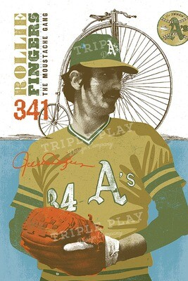 Rollie Fingers: The Moustache Gang — Illustrated Art Print