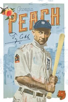Ty Cobb: The Georgia Peach — Illustrated Art Print
