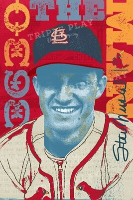 Stan Musial: The Man — Illustrated Art Print