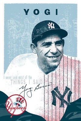 Yogi Berra — Illustrated Art Print