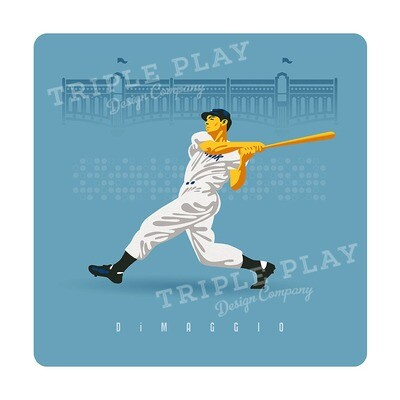 Joe DiMaggio: Baseball Icon — Illustrated Art Print