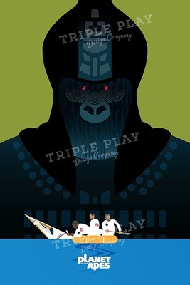Planet of the Apes: Cinema Poster — Illustrated Art Print