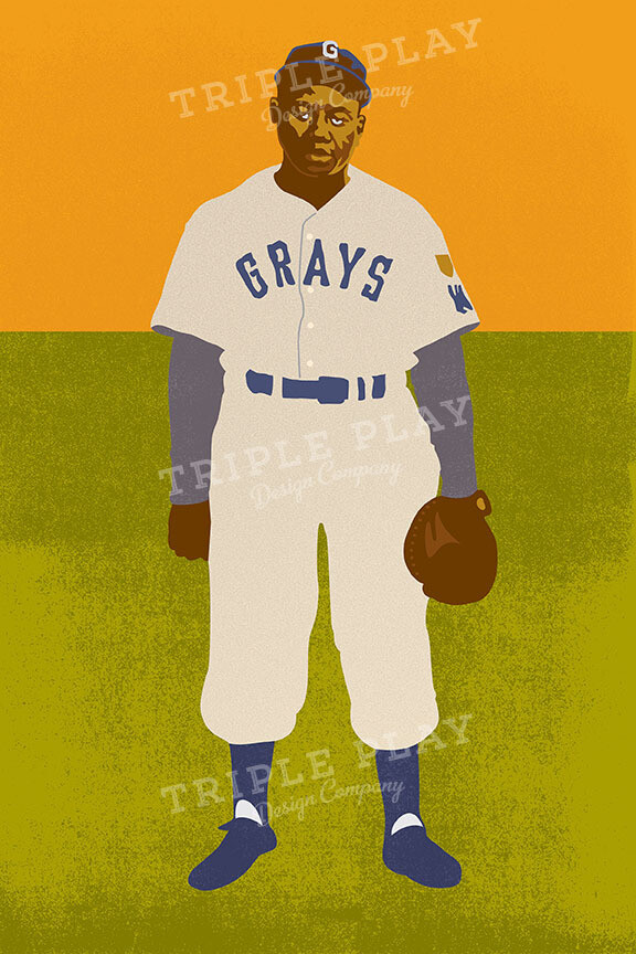 Josh Gibson: Baseball History — Illustrated Art Print Certified by the JGF