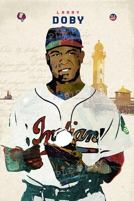 Larry Doby: Cleveland Baseball — Illustrated Art Print