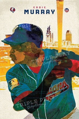 Eddie Murray: Cleveland Baseball — Illustrated Art Print