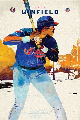 Dave Winfield: Cleveland Baseball — Illustrated Art Print