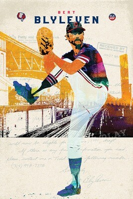 Bert Blyleven: Cleveland Baseball — Illustrated Art Print