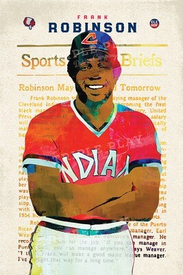 Frank Robinson: Cleveland Baseball — Illustrated Art Print