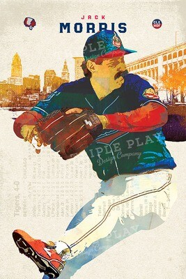 Jack Morris: Cleveland Baseball — Illustrated Art Print