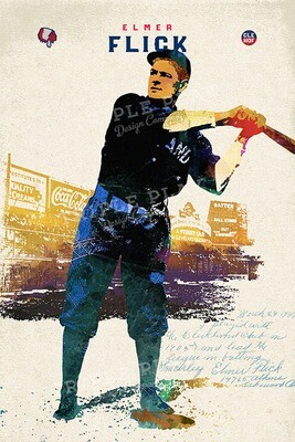 Elmer Flick: Cleveland Baseball — Illustrated Art Print