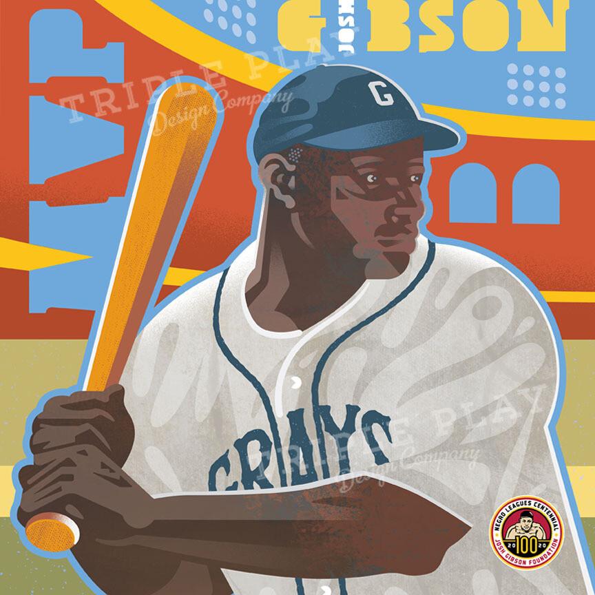 Josh Gibson Diamond Star — Illustrated Art Print Certified by the JGF