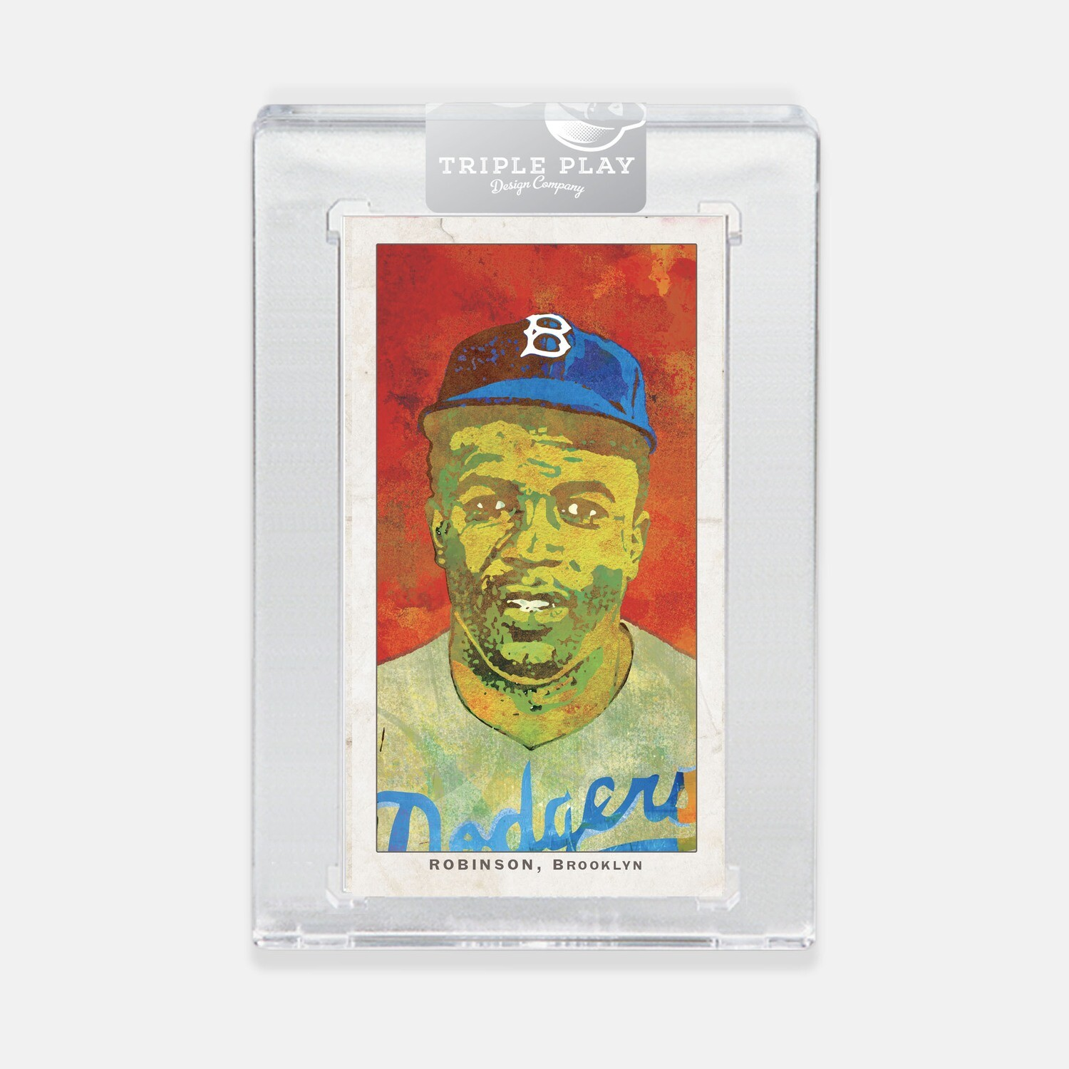 Jackie Robinson Opening Day — Red 1 Background — Premium T206-Sized Art Card