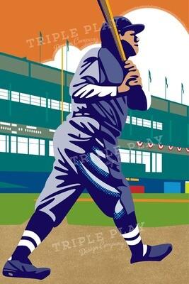 Babe Ruth: Bambino — Illustrated Art Print
