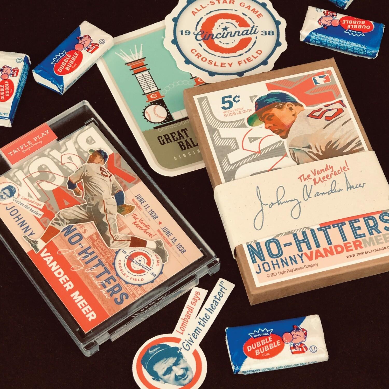 Johnny Vander Meer's Back-To-Back No Hitter! — Premium Art Card