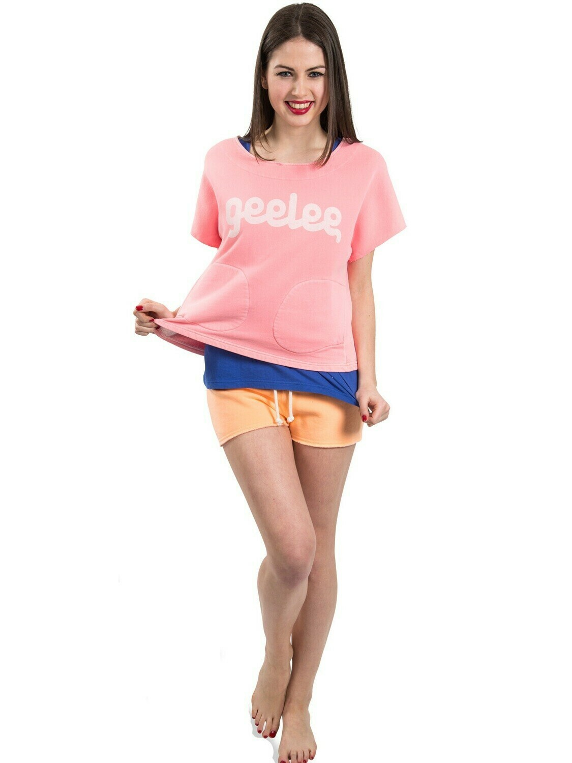 Geelee Cropped Damen Sweatshirt