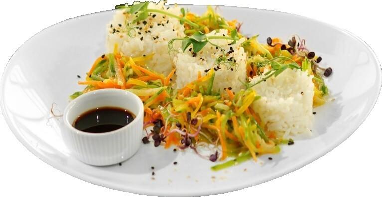 Рис жасмин на овощном жульене