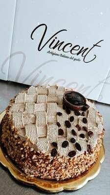 Torta Mousse Cappuccino alla Nocciola(8 - 10 fette)