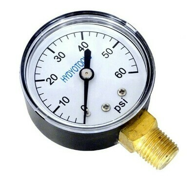Pressure Gauge 0-60 PSI Bottom Thread
