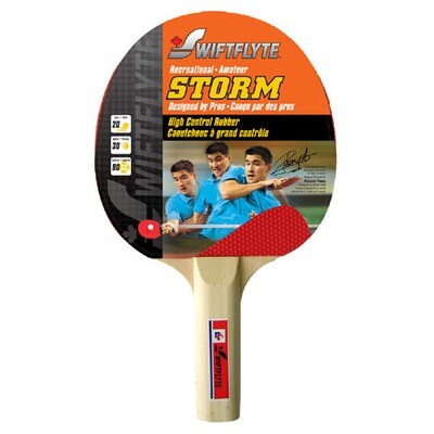 SWIFTFLYTE STORM STRAIGHT HANDLE TABLE TENNIS BAT