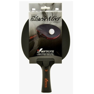 BLACK MIST TABLE TENNIS RACKET - BLACK & RED