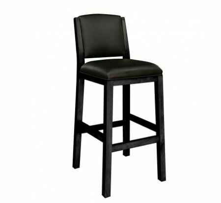 HERITAGE BACKED BARSTOOL - BLACK ONXY